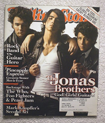 Nick, Joe & Kevin Jonas - The Jonas Brothers - Rolling Stone Magazine - #1058 - August 7, 2008 - Big Coal: Global Warming Enemy #1, Pineapple Express: Greatest Stoner (Rolling Stone Magazine Jonas Brothers)