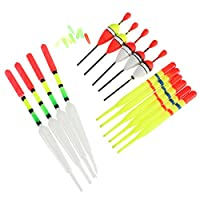 Sport Fisher ® 15 Pieces Set EVA Foam Fishing Float Assorted Sizes Fishing Lure Floats Bobbers Slip Drift Tube Indicator