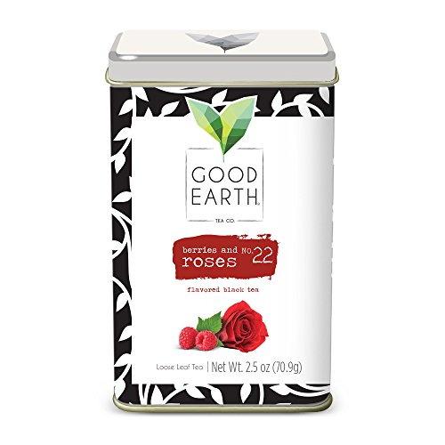Rose Flavored Tea - Good Earth Tea Berries & Roses - Premium Loose Leaf - Bright, fresh taste of ripe berries and fragrant rose petals balanced with mild black tea tartness - Flavored Black Tea