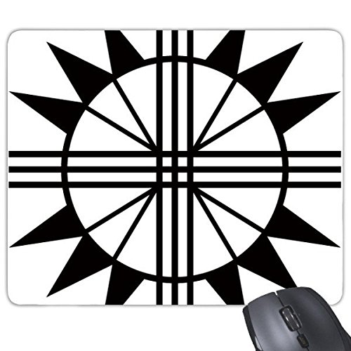 Ancient Egypt Pharaoh Abstract Decorative Pattern Sacrifice Shield Art Silhouette Rectangle Non-Slip Rubber Mousepad Game Mouse - Shield Silhouette