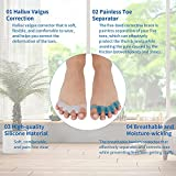 Toe Separators, Eosxrp 4 Pair Soft Gel Toe Spacers