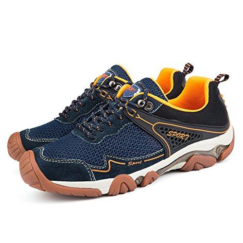 Braun Wanderschuhe Schuhe B Trekking Atmungsaktives Blau Mesh UBFen Herren Turnschuhe Casual Outdoorschuhe Wanderhalbschuhe Sportschuhe Sneakers Blau Rzn7qxnYAw