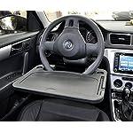 car 1pcs Eating/Laptop Steering Wheel Desk : Gray