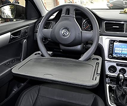 amazon com cutequeen black car laptop eating wheel desk pack of 1 rh amazon com steering wheel desk reviews steering wheel desk mount