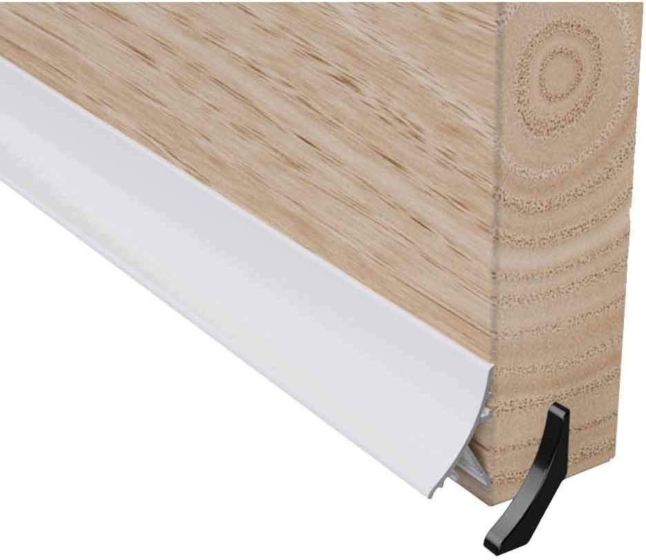 blanco Barra deflector oculto para la lluvia y el clima de 914 mm para puerta con tablero de protecci/ón de madera de UPVC de 32 mm Stormguard
