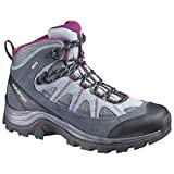 Salomon Women's Authentic Ltr Gtx W Backpacking Boot, Pearl Grey/Grey Denim/Mystic Purple, 9.5