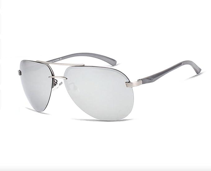 Gafas De Sol Hombre Polarizadas, gafas de sol estilo aviador cristal gris, gafas de