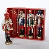 (US) Kurt Adler Wooden Nutcracker Ornament 4-Piece Box Set, 5-Inch