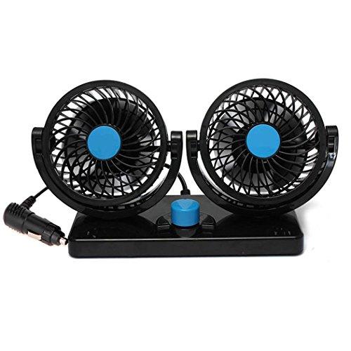 Fansport Car Air Cooling Fan Electric Car Fan Two Speed Dual Head Auto Cooling Fan Auto Air Fan by Fansport