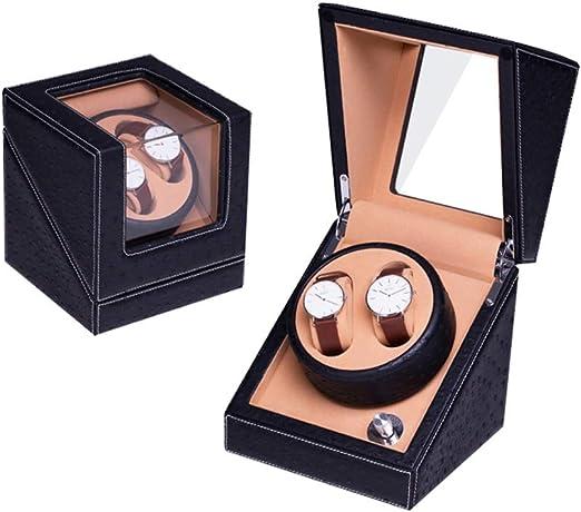 Caja Giratoria para Relojes Automatico, Iluminación LED con Watch Winder Madera De Almacenamiento Caja (Color : A10-2): Amazon.es: Relojes