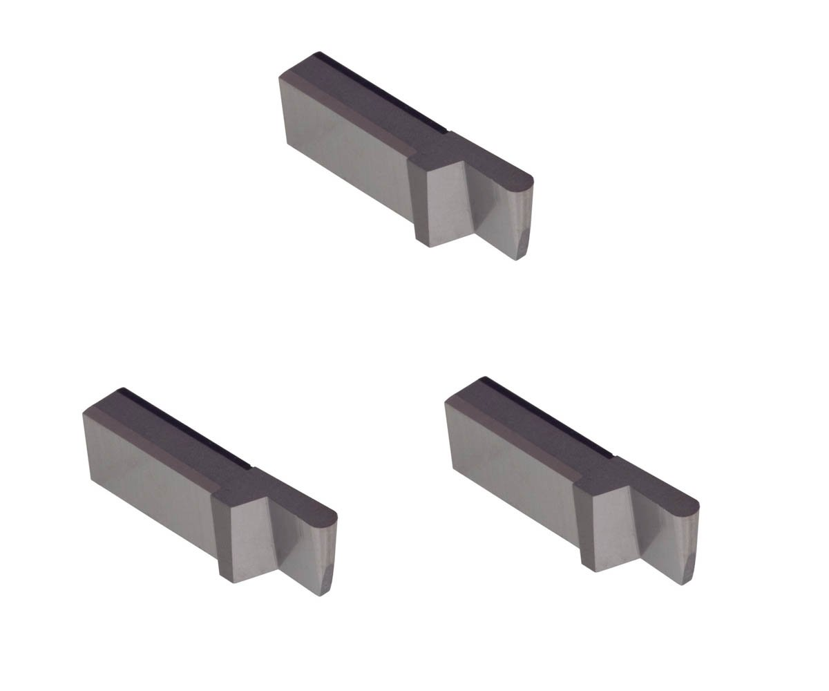 Corner Radius 0.007 Uncoated Carbide THINBIT 3 Pack LGT080D5RCR007 0.080 Width 0.200 Depth Aluminium and Plastic Without Interrupted Cuts Grooving Insert for Non-Ferrous Alloys