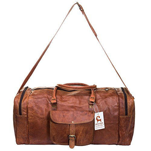 Handmade Leather Travel Duffle Bag Vintage Style Overnight Bag Size 20 Inch by Urban Leather (Image #2)