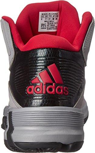 Scarpa Da Basket Adidas Performance Mens D Howard 6 Grigio Chiaro / Nero / Rosso