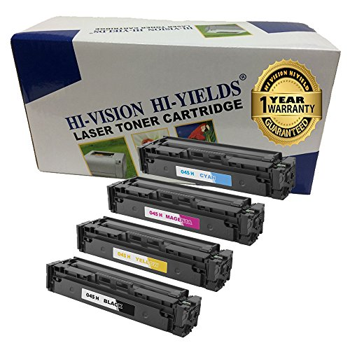 - HI-VISION HI-YIELDS Compatible Toner Cartridge Replacement for Canon 045 (Color, 4-Pack)