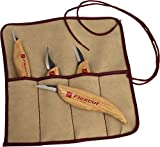 Flexcut Carving Tools, Carving Knife Set, High-Carbon Steel Blades, with Solid Ash Handle, Set of 4 (KN100)