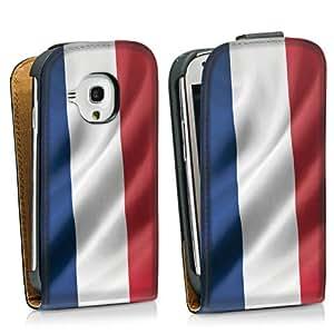 Diseño para Samsung Galaxy S3 Mini I8190 DesignTasche Downflip black - Frankreich