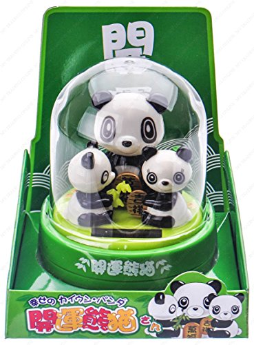 M.V. Trading Solar Bobble Head Toy Figure, Panda Family ()