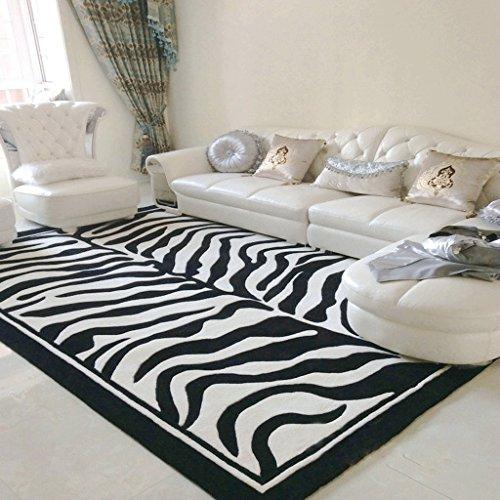 Nordic Zebra Stripes Non-Slip Carpets, Soft Rugs, Bedroom Living Room with Multi-Functional Mats (Size : 120170cm)