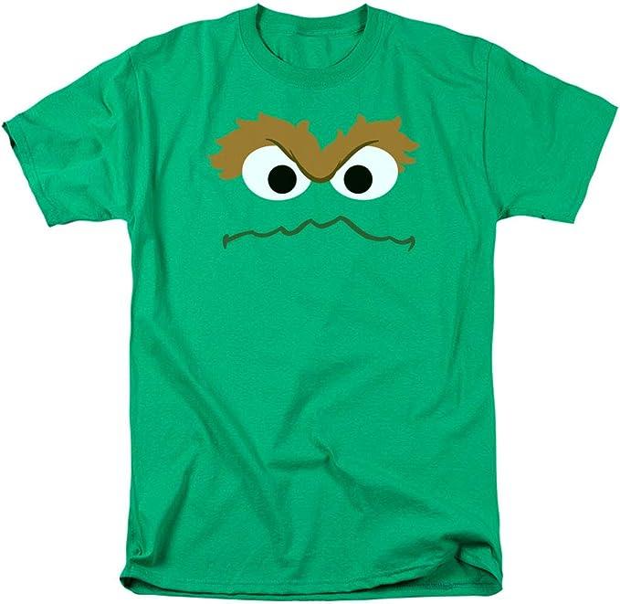 Amazon Com Oscar The Grouch Face Sesame Street T Shirt