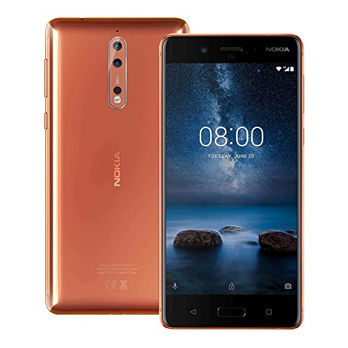 Nokia 8 (TA-1052) 4GB / 64GB 5.3-inch Dual SIM Factory Unlocked - International Stock No Warranty...