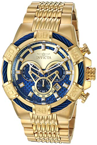 (Invicta Men's Bolt Quartz Watch with Stainless-Steel Strap, Gold, 28 (Model: 25542)