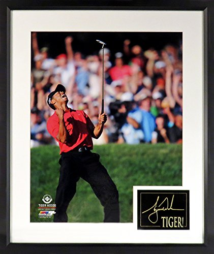 "Tiger Woods ""US Open Celebration"" 16x20 Photograph (SGA Signature Engraved Plate Series) (Tiger Woods Memorabilia)"