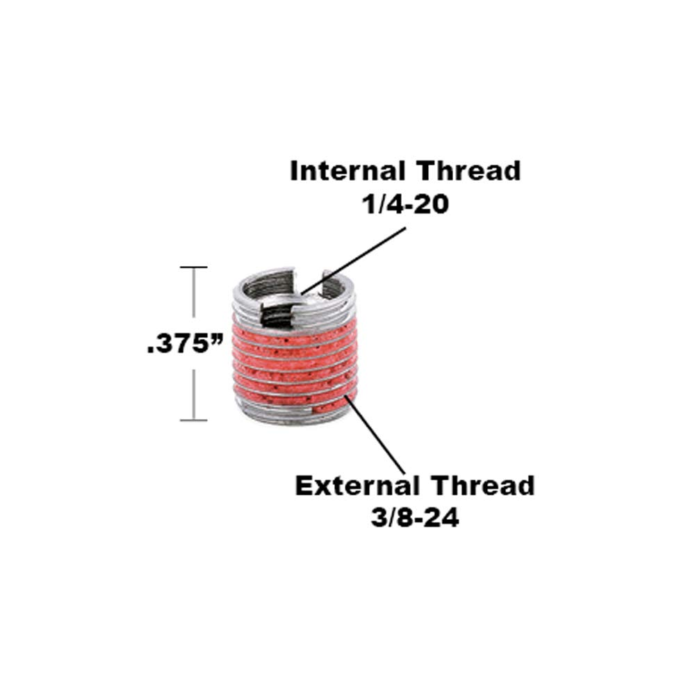 E-Z LOK Threaded Insert for Metal Thin Wall 5//8-18 x 3//4-16 303 Stainless Pack of 1