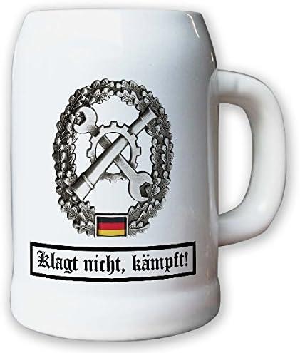 Barettabezeichen Instandsetzung Inst Werkstatt Panzer KFZ BW Bundeswehr Souvenier #10918 Krug//Bierkrug 0,5l