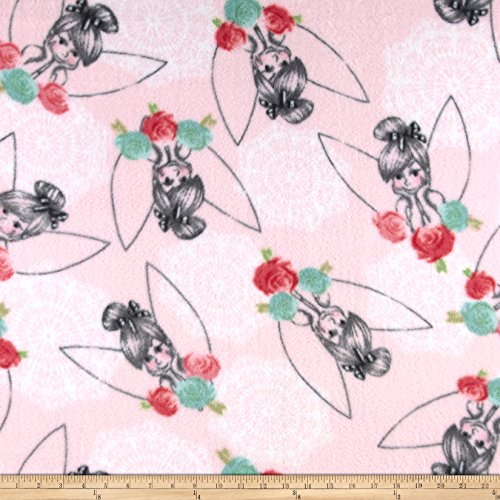 Springs Creative Products Tink Lacey Tink Fleece Fabric By The (Tinkerbell Iron)