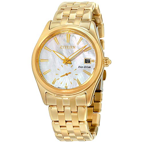 Ladies' Citizen Eco-Drive Corso Yellow Gold Textured Dial Watch EV1032-51D