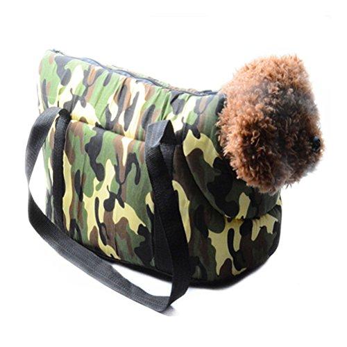 UEETEK Portable Pet Dog Bag Carrier Shoulder Bag Handbag Soft Outdoor Travel Tote for Puppy Dogs Cats (Camouflage) (Dog Camouflage Carrier)