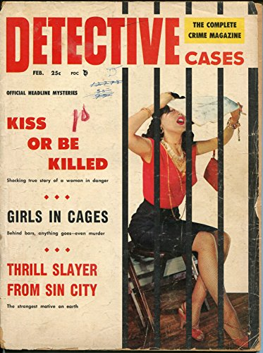 Brookside Bar - Detective Cases 2/1957-Brookside-woman behind bars cover-thrill slayer-pulp -FR