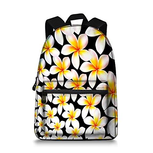 Canvas Backpack Women Lady Floral Patterned Rucksack School Laptop Bag Daypack Travel