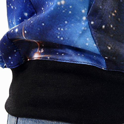THENICE - Sudadera con capucha - Manga Larga - para mujer Blue Star