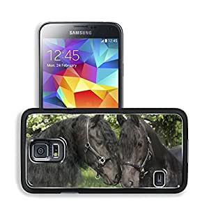 Animals Horses Lovers Talking about Dinner Samsung Galaxy S5 SM-G900 Snap Cover Premium Aluminium Design Back Plate Case Open Ports Customized Made to Order Support Ready 5 8/16 Inch (140mm) X 3 2/16 Inch (80mm) X 11/16 Inch (17mm) MSD S5 Professional Cas wangjiang maoyi