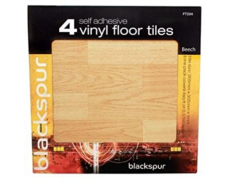 4pk Self Adhesive Floor Tiles Effect Flooring 4 Sq Ft Covered Beech