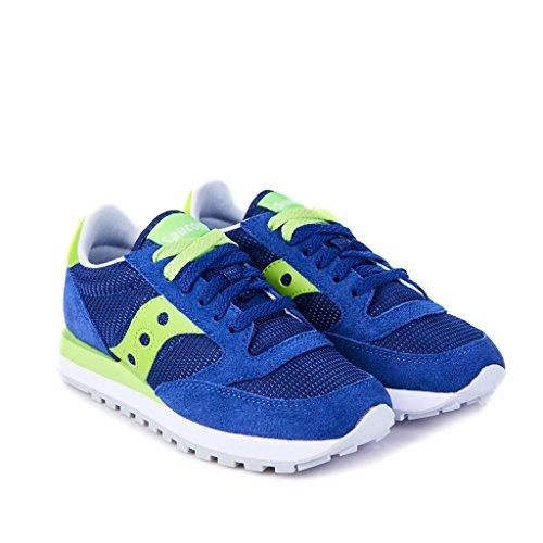 SAUCONY Jazz Original sneakers lacci donna PELLE BLUE LIME S60254-6 37
