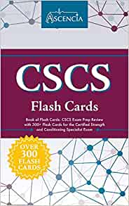 CSCS Book of Flash Cards: CSCS Exam Prep Review with 300+