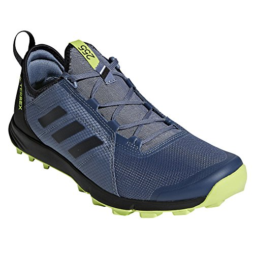 adidas outdoor Men's Terrex Agravic Speed Raw Steel/Black/Solar Slime 12.5 D US ()