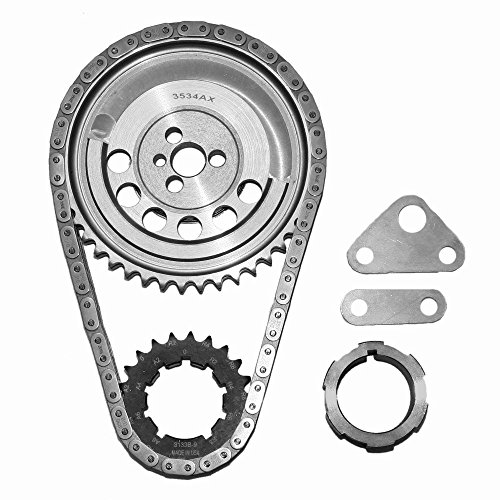 Ls2 Timing Chain - SA Gear 78534T-9 Chevy Billet Timing Chain Set 5.3L 6.0L LS2 .250 Double Roller