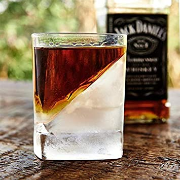 Homezone Whisky y Scotch Vidrio con Jugador de Hockey sobre Hielo Molde Cuña Ginebra Brandy Spirits Licor Bourbon Iced para Beber Vidrio Coctelería Vajilla ...