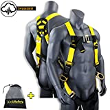 KwikSafety THUNDER | OSHA ANSI Fall Protection Full Body Safety Harness | Personal Protective Equipment with Dorsal Ring and Side D-Rings | Universal Construction Industrial Roofing Tool