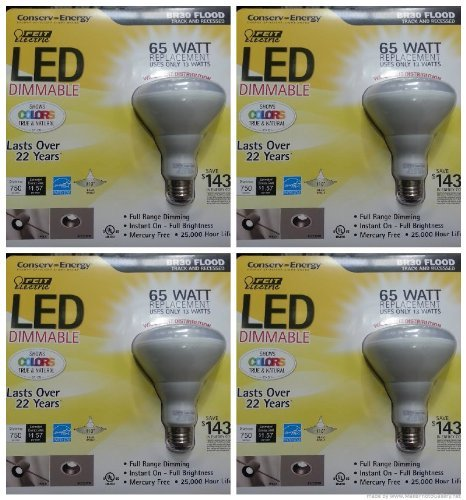 feit electric 65 watt led br30 - 9