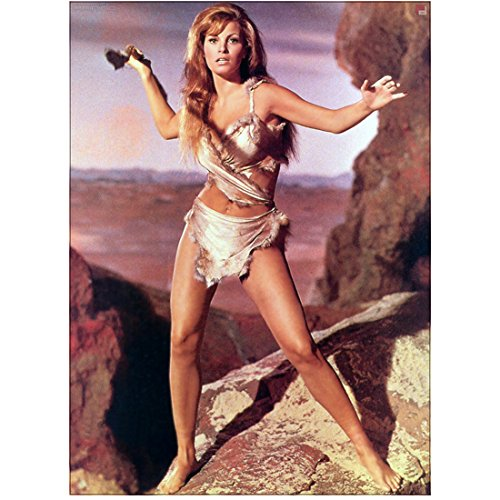 Raquel Welch 8x10 Photo One Million Years B.C. The Three Musketeers Legally Blonde Prehistoric Bikini Standing on Cliff kn