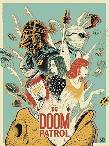 "DOOM PATROL DC Universe - 18""x24"" Original TV Poster SDCC 2019 Exclusive Comic Con"