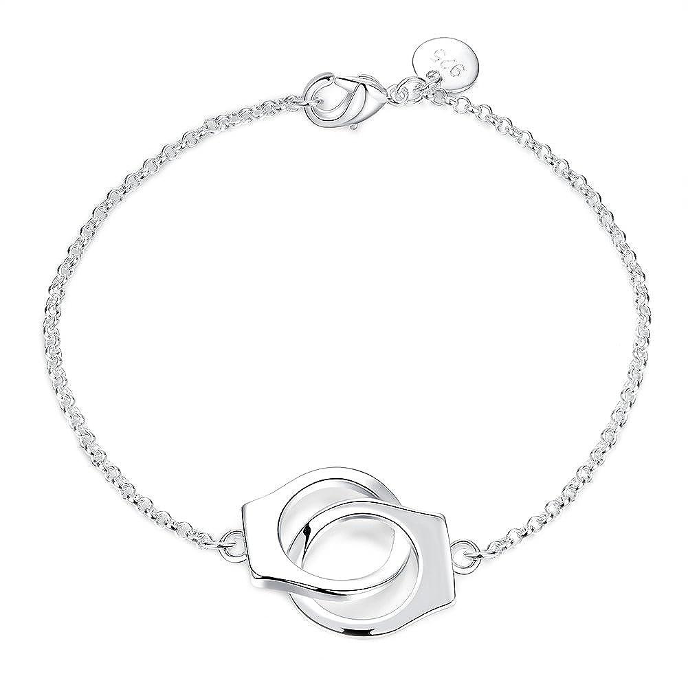 Goldenchen Simple Handcuff Chain Bracelet Partners in Crime Best Friends Bracelet BKH006