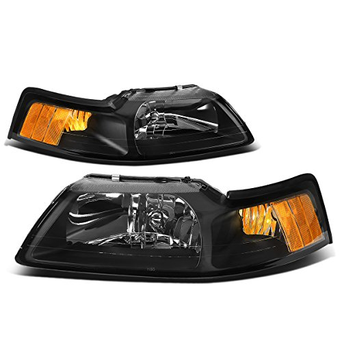 DNA Motoring HL-OH-FM99-BK-AM Headlight Assembly, Driver and Passenger Side -
