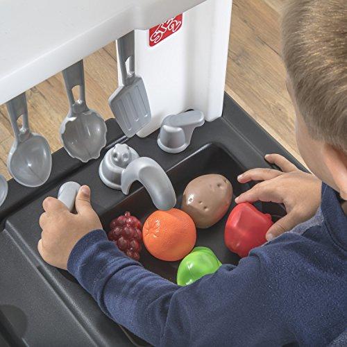 51nIoZvlvnL - Step2 899399 Espresso Bar Play Kitchen for Kids, Tan