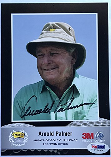 Arnold Palmer signed masters golf photo 3m promo autographed psa dna coa