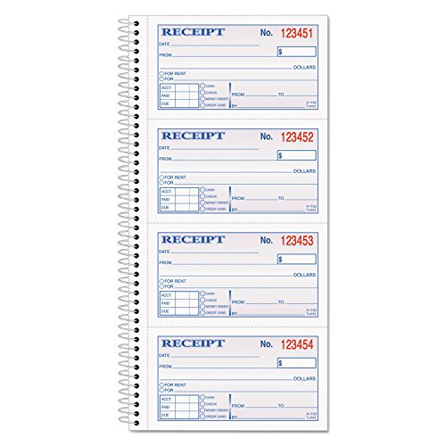 Adams SC1152 Money/Rent Receipt Book, 2-Part, 11 x 5-1/4, 200 Sets/Book by Office 4 All (Image #3)